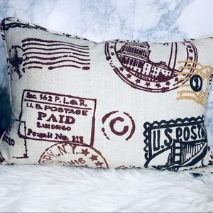 Newport Postage Stamp Accent Toss Pillow